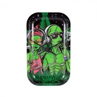 Bandeja de liar Green Alien 27 Mediana