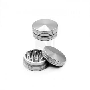 Grinder Aluminio CNC 40 mm. Plata