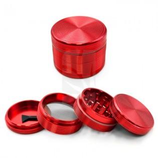Grinder Riple 4 partes 50 mm. Rojo