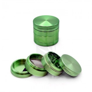 Grinder Aluminio CNC Verde 40 mm. 4 Partes