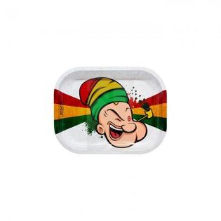 Bandeja Metálica para Liar - Rasta Spinach - Pequeña 18 x 14 cm.