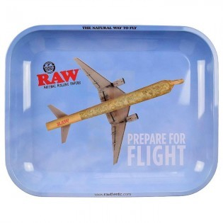 RAW Bandeja Metal Rolling Tray L-Flying High