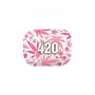 Bandeja de Liar 420 pequeña Rosa/blanca