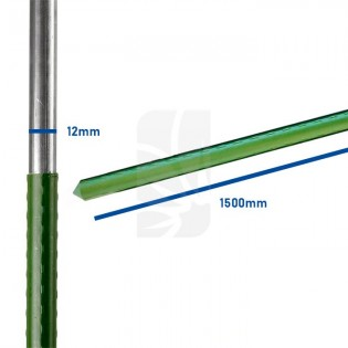 Tutor de acero plastificado 1500mm/12mm.