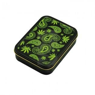 Caja cuadrada 8 x 11 cm. Paisley Weed