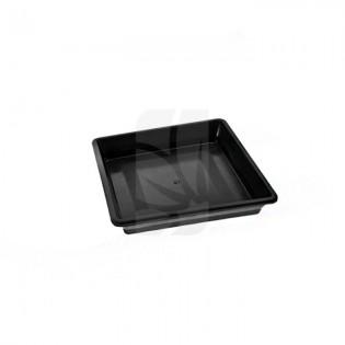 Plato Cuadrado negro de 20 x 20 cm.