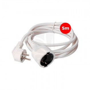 Prolongador Manguera 3 x 1.5 T/TL 5 mts. blanco