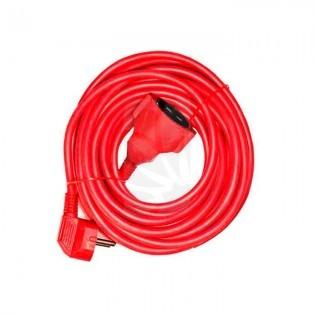 Prolongador Manguera 25 mts. 3 x 1.5 Flexible rojo