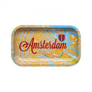 Bandeja Metal Amsterdam Map. Grande