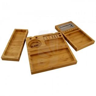 Raw triple caja bambu con imanes