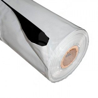Plástico Reflectante Blanco/Negro 2 Mts. x 100 mts