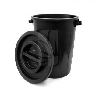Deposito redondo con tapa de 100 litros negro
