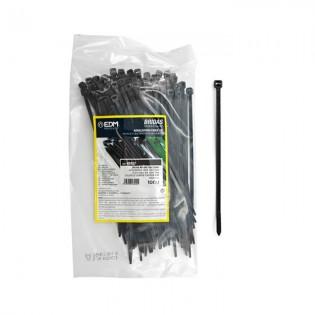 Bridas negras 150x3.5 mm. 100 u.