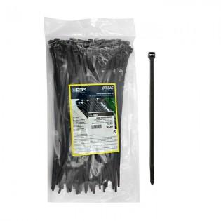 Bridas negras 200x4.8 mm. 100 u.