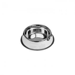 Comedero acero inox. antideslizante 0.45 L. 19 cm.