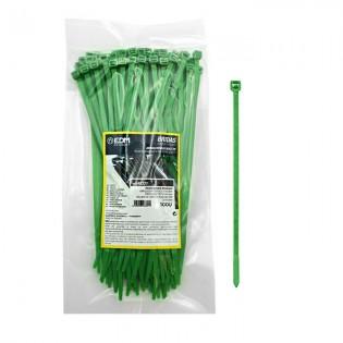 Bridas Verdes 200 x 4.8 mm. (100 u.)
