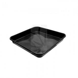 Plato Cuadrado negro de 30 x 30 cm.
