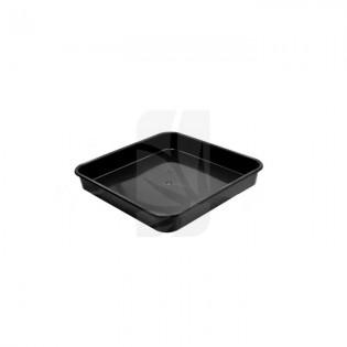 Plato Cuadrado negro de 22 x 22 cm.