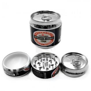 Grinder 3 partes lata bebida 50 mm. negro