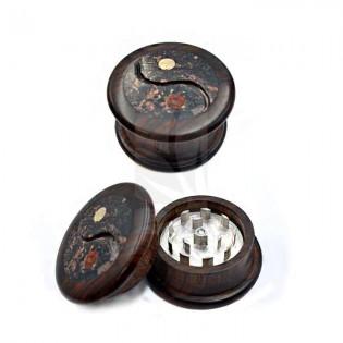Grinder madera, piedra y aluminio Ying Yang, 2 partes 53x30mm