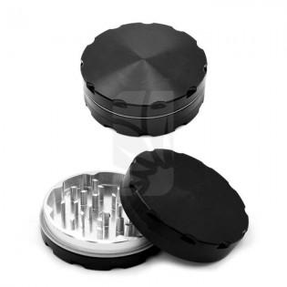Grinder de luxe 2 partes negro 62 mm.