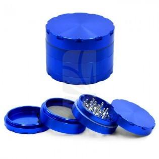 Grinder de luxe de 4 partes azul 62 mm.